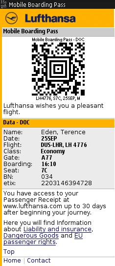 Lufthansa 2d Barcode Boarding Passes Terence Eden S Blog