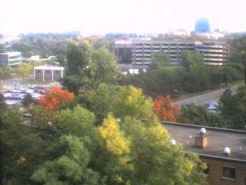 veiw of campus from way up