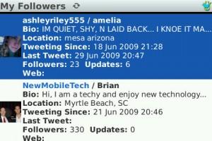 Detailed follower information