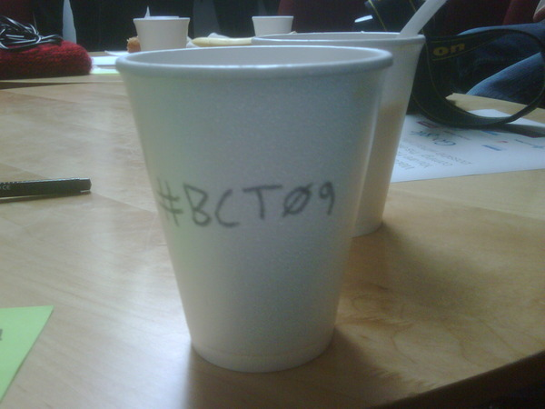 Remember to tag *EVERYTHING* #BCT09 on Twitpic