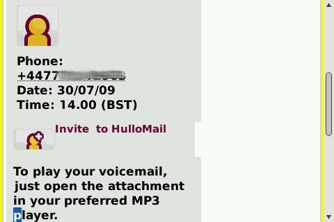 HullMail email - message details