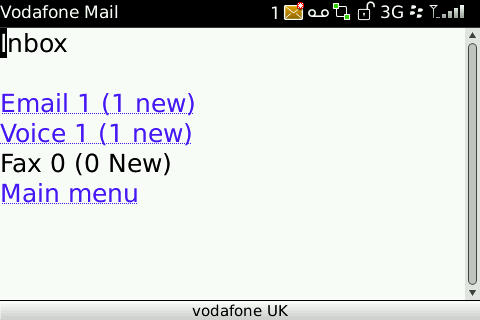 Vodafone Mail - new messages