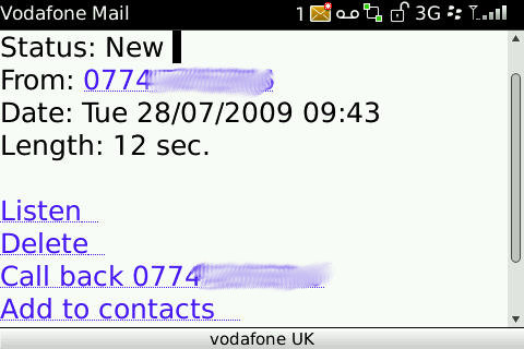 Vodafone Mail - Message Details