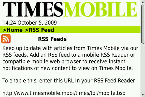 Mobile friendly RSS