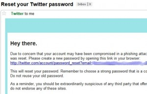 Reset Your Twitter Password