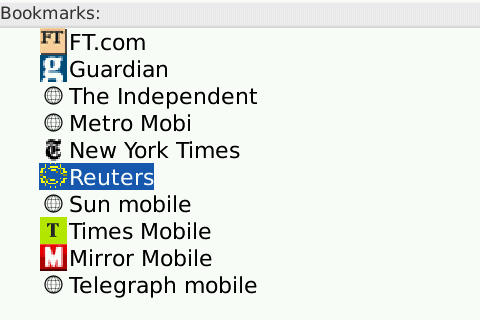 List of mobile newspapers - spot the favicon