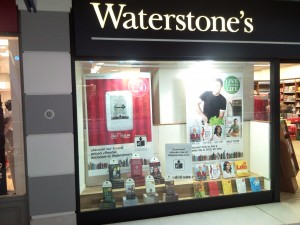 511EB in the window of Waterstone's