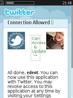 N95 Twitter OAuth