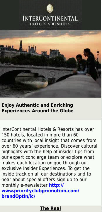 Intercontinental Advert Page 1