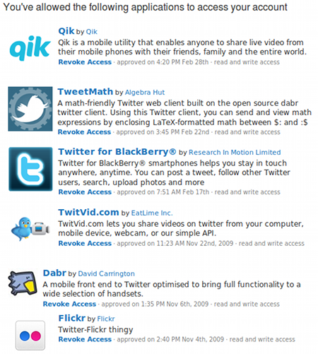 Twitter OAuth Connections