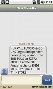 SMS Spam from Floors2Go