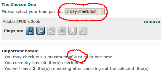 Checkout restricts the number of titles you can borrow