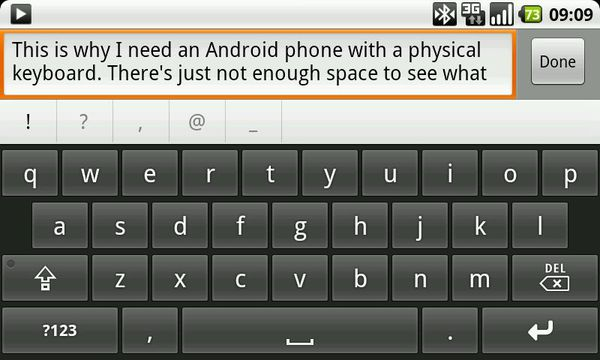 Android Onscreen Keyboard