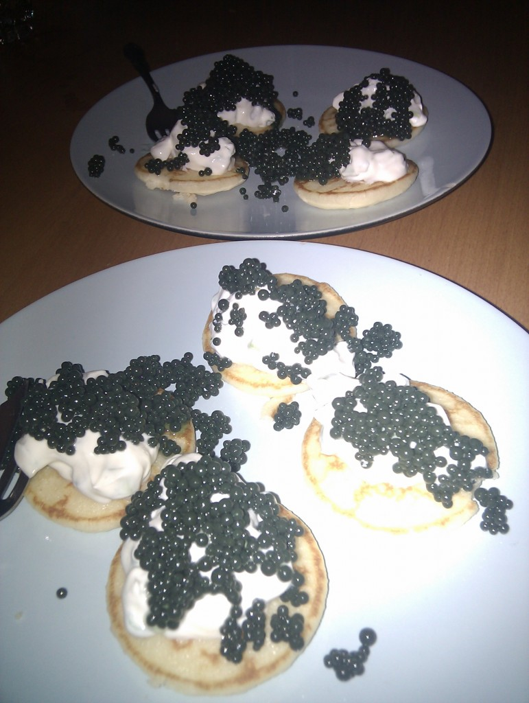Perfect on blinis