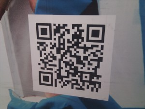 Close up of QR Code