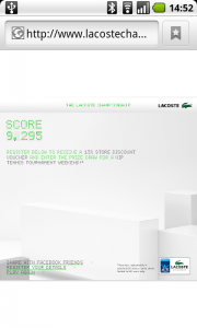 Lacoste Flash Game