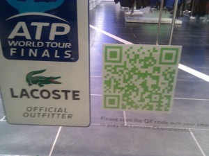 Lacoste store QR code window