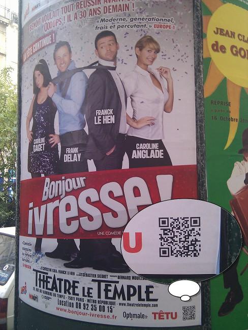 Parisian QR Code - Movie Poster