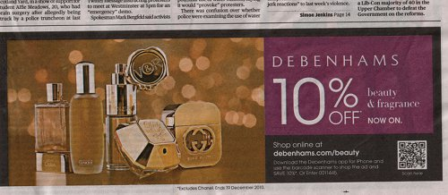 Debenhams QR Advert