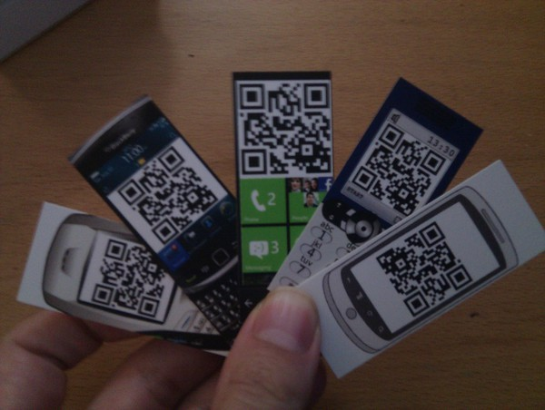 QR Codes on Moo Cards