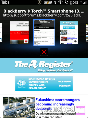 BlackBerry Tabbed Browser