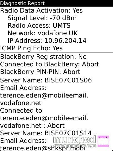 No BlackBerry Connection