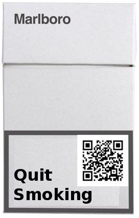 QR Code on Unbranded Cigarette Pack