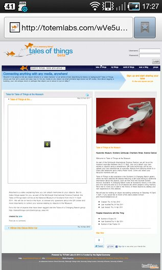 ToT non-mobile website