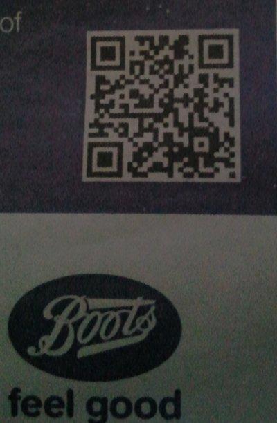 Boots QR Closeup
