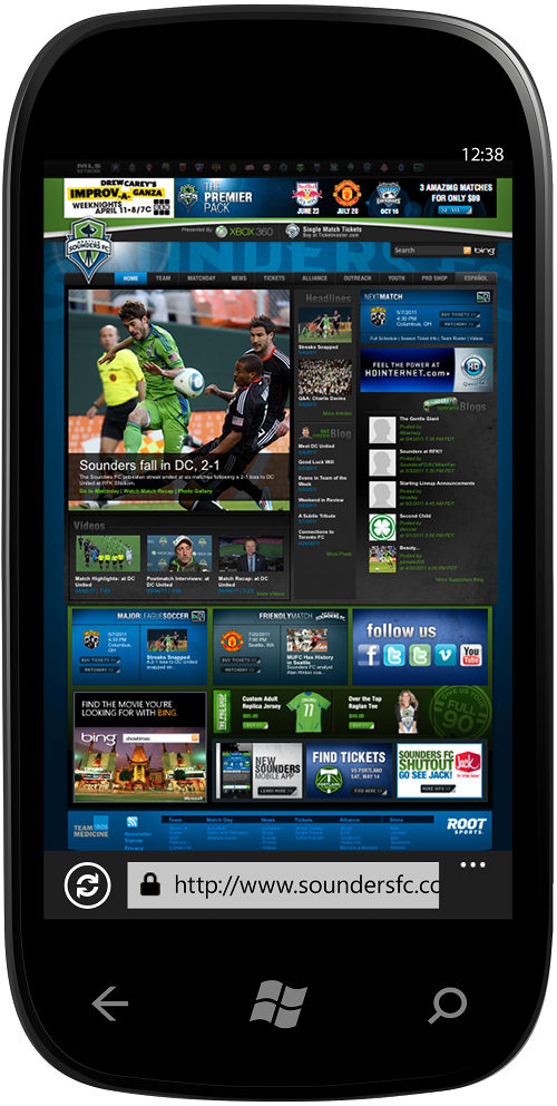 wp7 Browser in phone