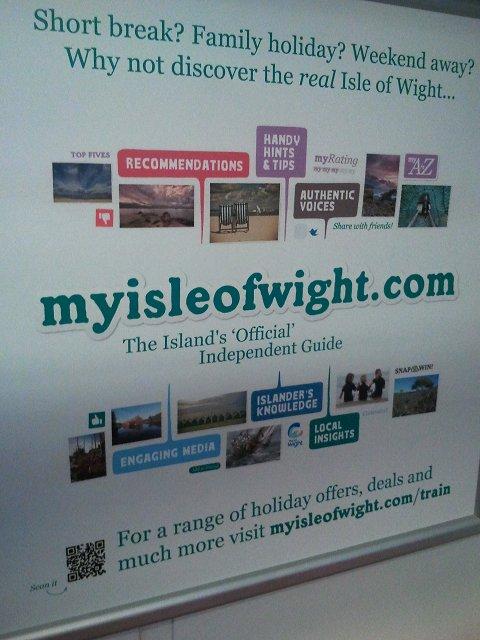 MyIsleOfWight Poster on a train