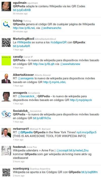 qrpedia tweets