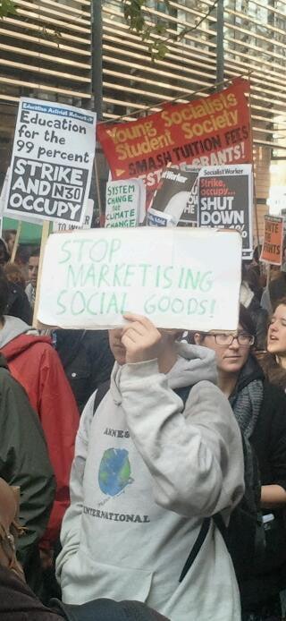 Stop marketising social goods.