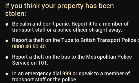 BTP non click-to-call