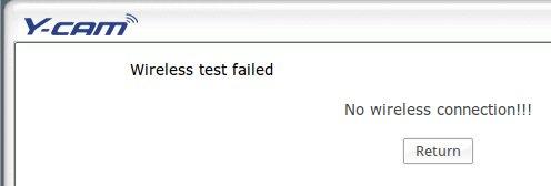 y-cam WiFi fail