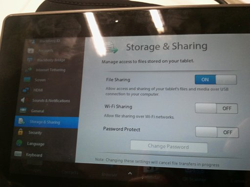 PlayBook file sharing