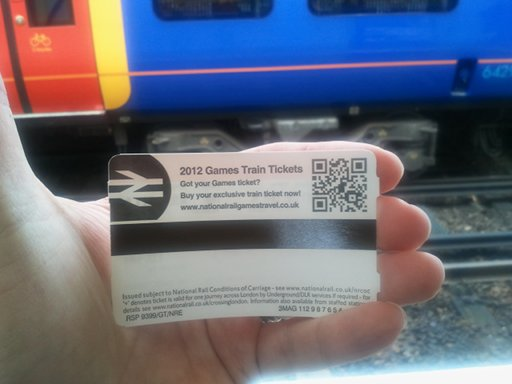 QR Codes on Train Tickets
