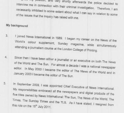 Brooks Witness Statement