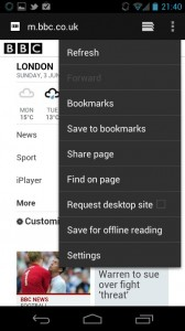 ICS button screenshot browser