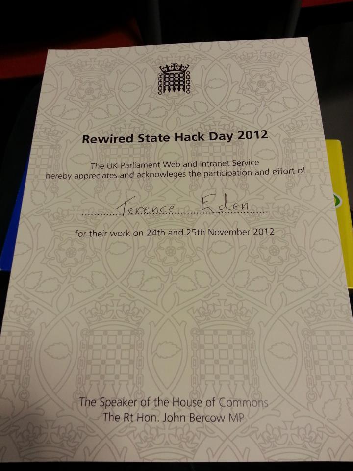 rewired state 2012 certificate