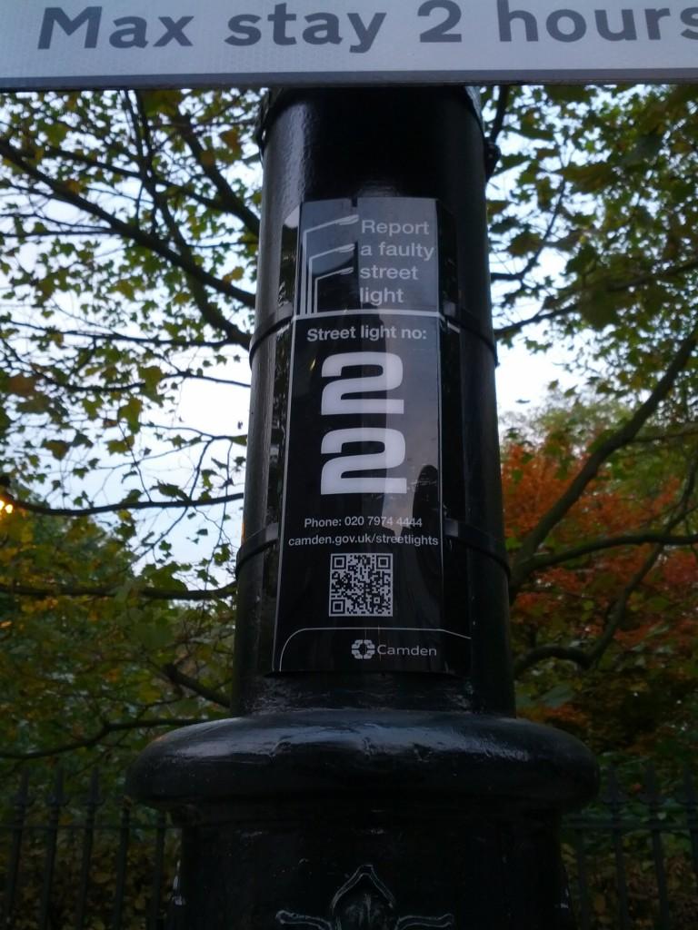 QR Code Lamp-Post