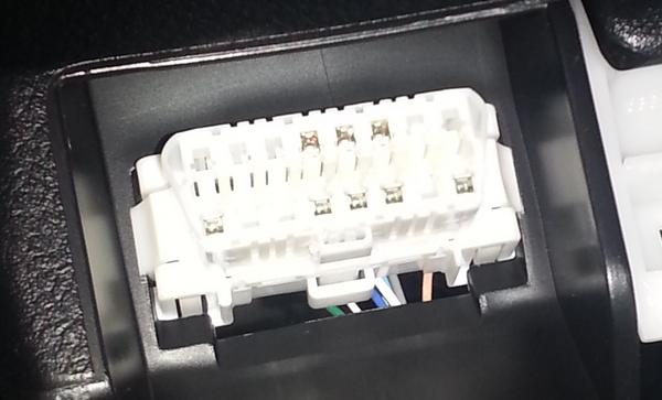 OBDII port in Toyota Yaris