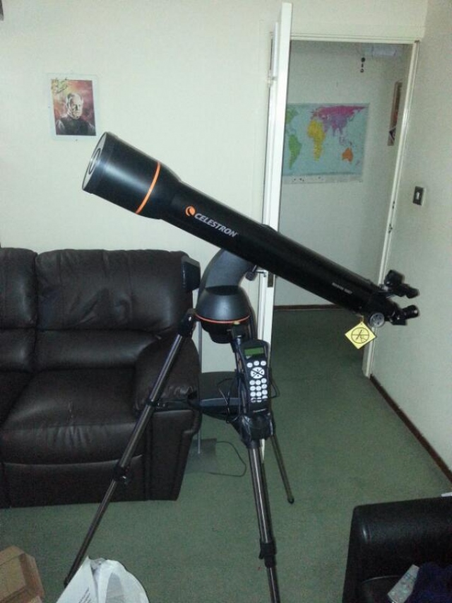 A cheap telescope.