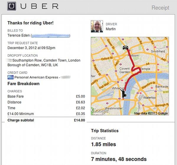 Uber Bill