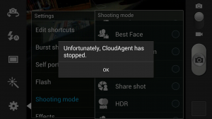 Samsung CloudAgent Crash