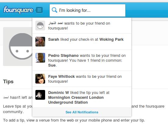 FourSquare RTL Web