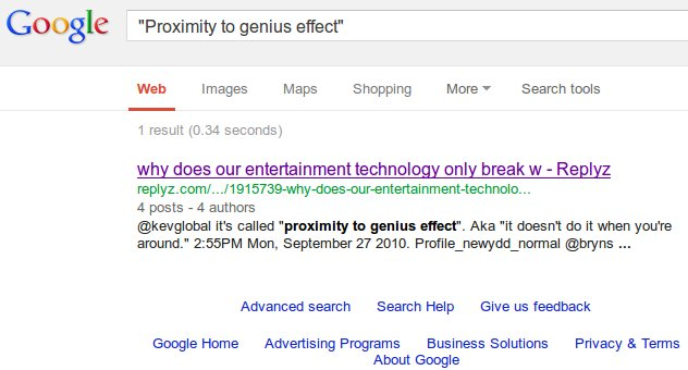 Google Bomb Proximity To Genius Effect