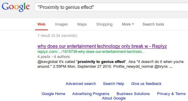 Google Bomb Proximity To Genius Effect