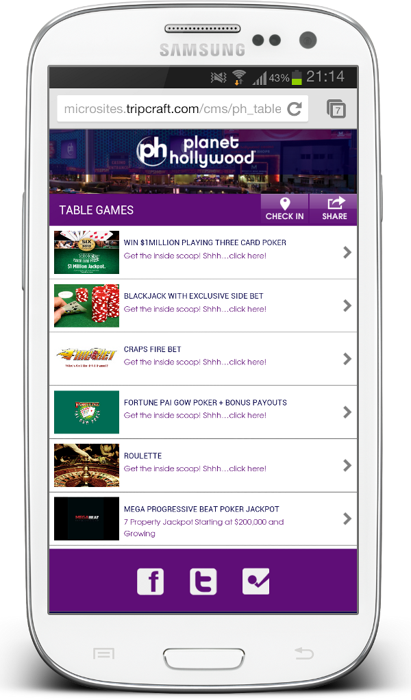 Planet Hollywood NFC site