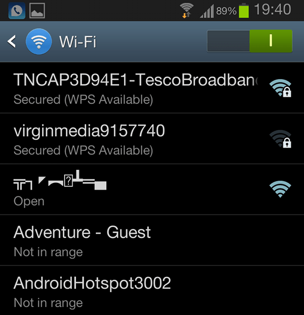 Android WiFi Unicode